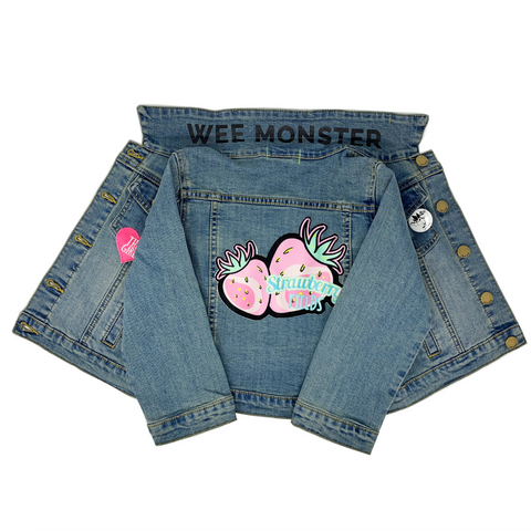 Strawberry Fields Denim Jacket - Unisex for Boys and Girls