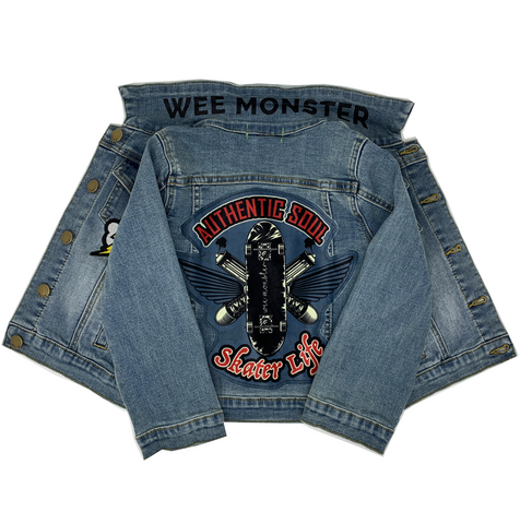 Skater Life Denim Jacket - Unisex for Boys and Girls