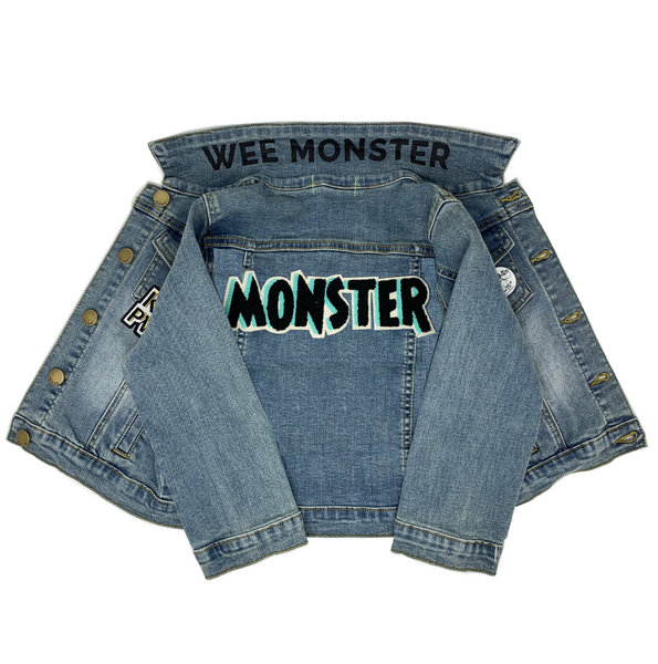MONSTER Denim Jacket - Unisex for Boys and Girls