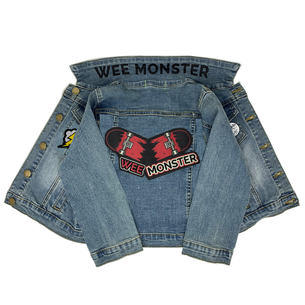 Skateboard Denim Jacket - Unisex for Boys and Girls