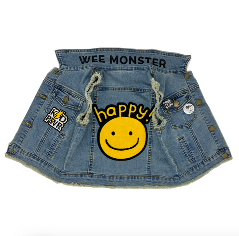 Happy Denim Vest - Unisex for Boys and Girls