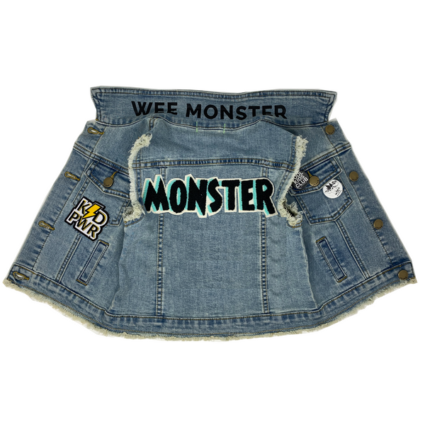 MONSTER Denim Vest - Unisex for Boys and Girls