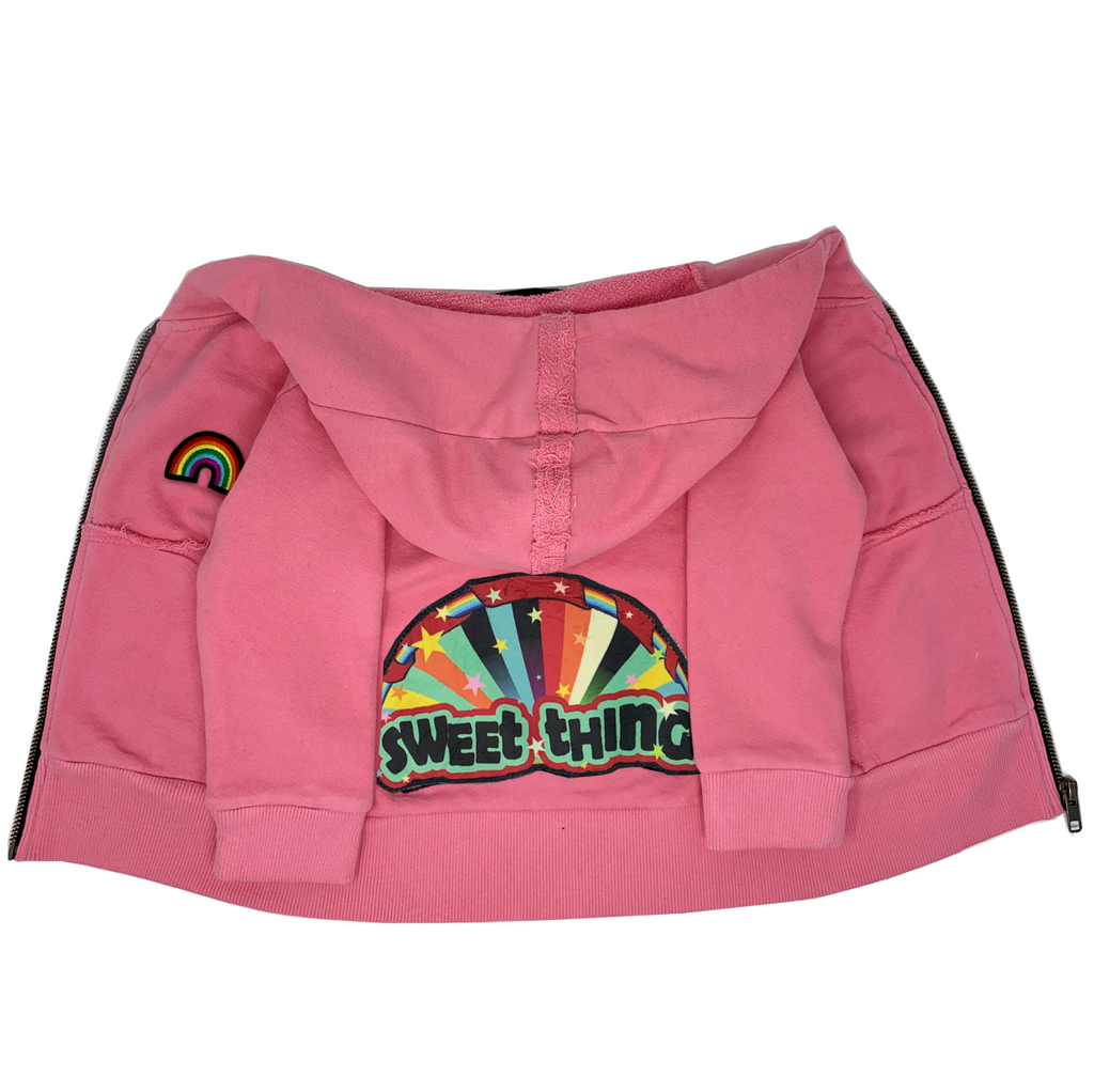 Sweet Thing Pink Zip Hoodie - Unisex for Boys and Girls
