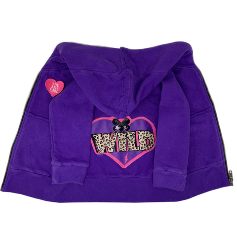 Wild Purple Zip Hoodie - Unisex for Boys and Girls