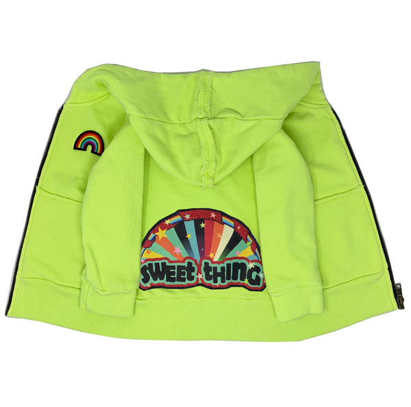 Sweet Thing Neon Zip Hoodie - Unisex for Boys and Girls