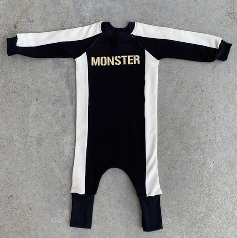 Super Duper Black MONSTER Jumpsuit - Unisex for Boys and Girls