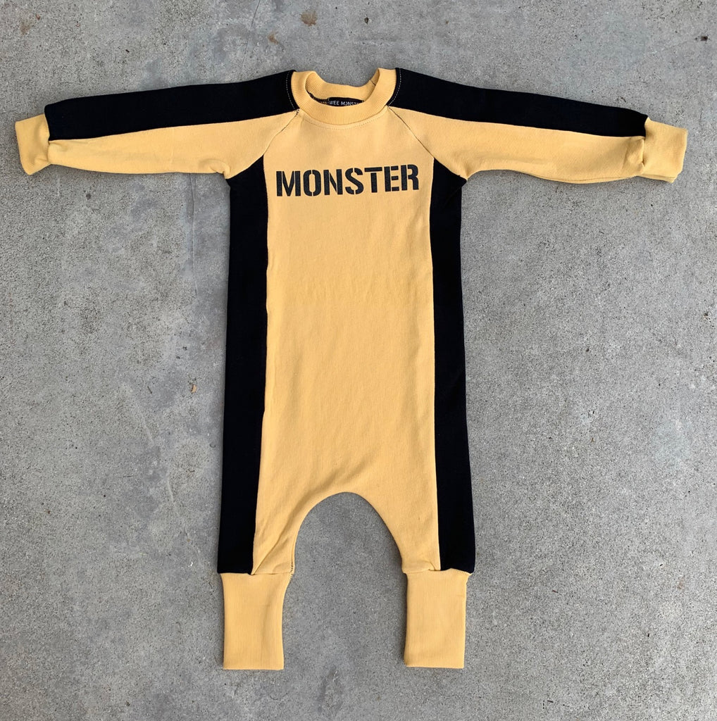 Mustard MONSTER Jumpsuit - Unisex for Boys and Girls
