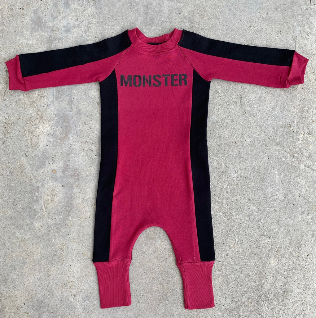 Groovy Pink MONSTER Jumpsuit - Unisex for Boys and Girls