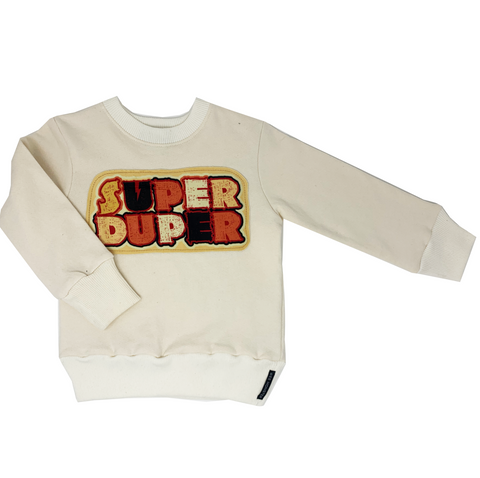 Super Duper Cream Sweatshirt - Unisex for Boys and Girls