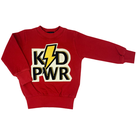 KID PWR Red Sweatshirt - Unisex for Boys and Girls