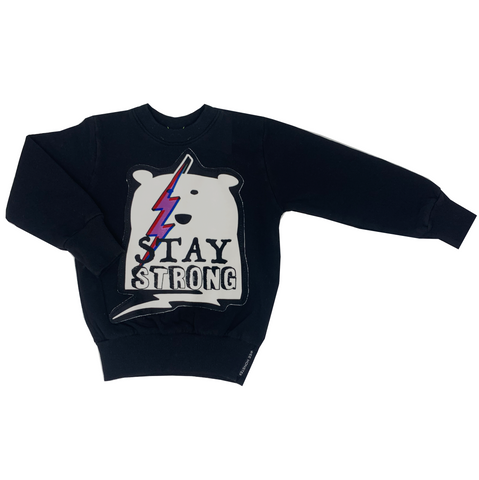 Stay Strong Black Sweatshirt - Unisex for Boys and Girls