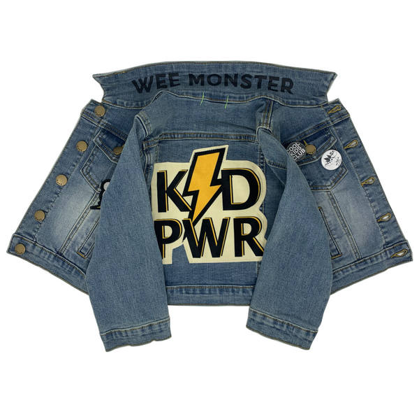 KID PWR Denim Jacket - Unisex for Boys and Girls