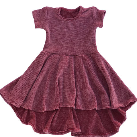 red rib dress for toddler girl, kids clothes, girls clothes, dresses for girls