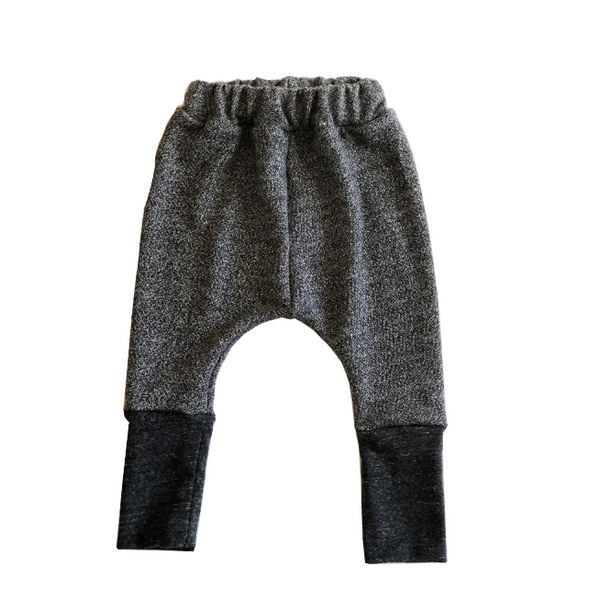 heather grey french terry cotton harem pants for children, boys, girls, kids clothes, girl clothes, pants for boys or girls