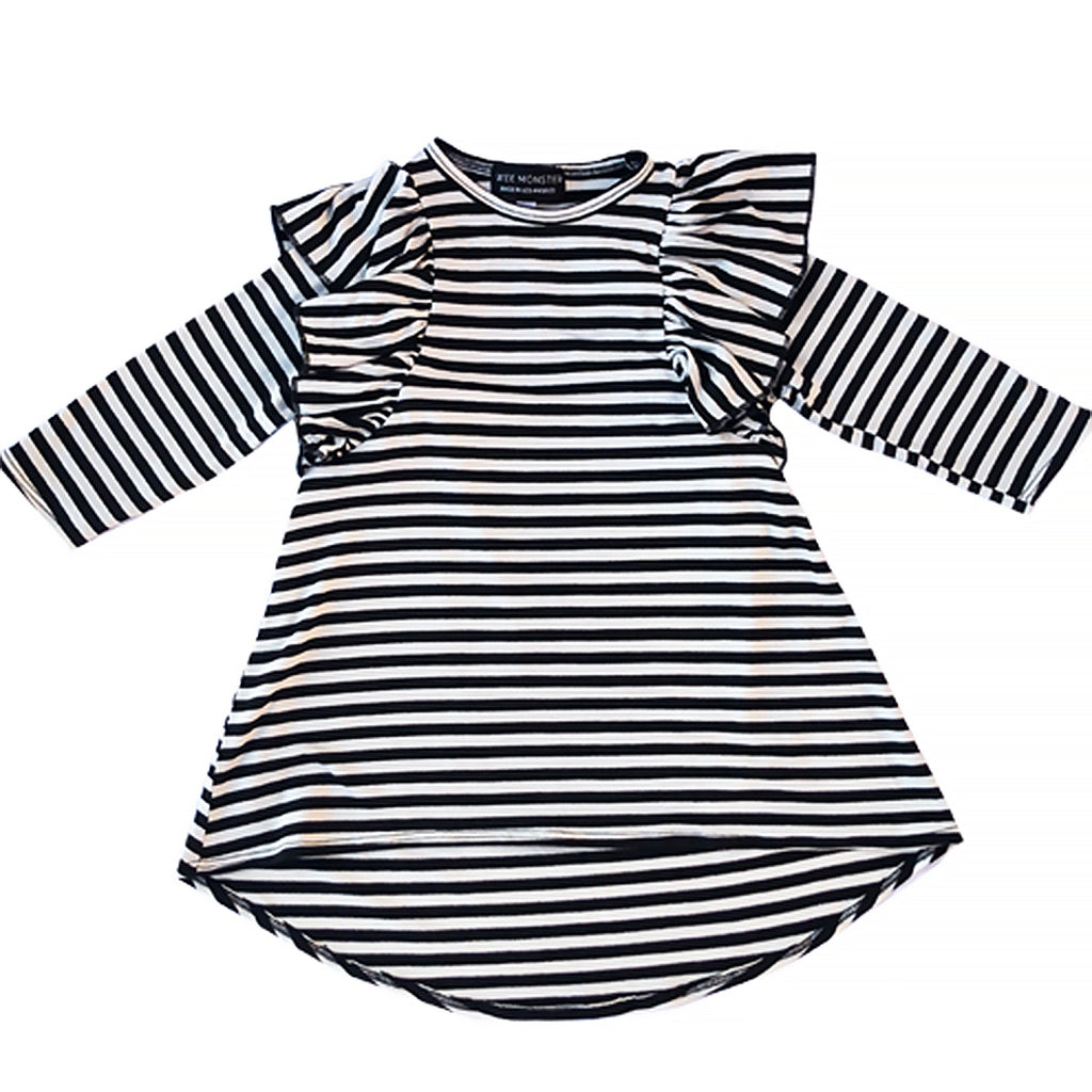 black and white stripe maxi ruffle dress for toddler girl, kids clothes, girls clothes, dresses for girls