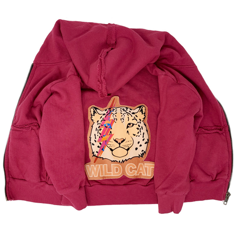 Wild Cat Zip Hoodie - Unisex for Boys and Girls