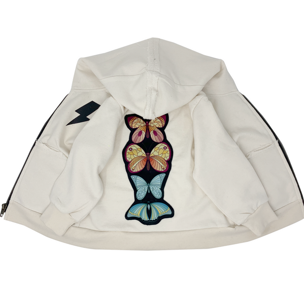 Butterfly Zip Hoodie - Unisex for Boys and Girls