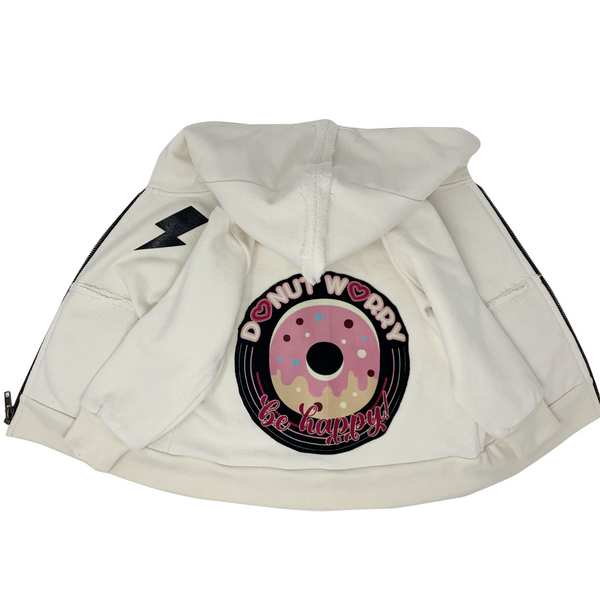 Donut Worry Zip Hoodie - Unisex for Boys and Girls