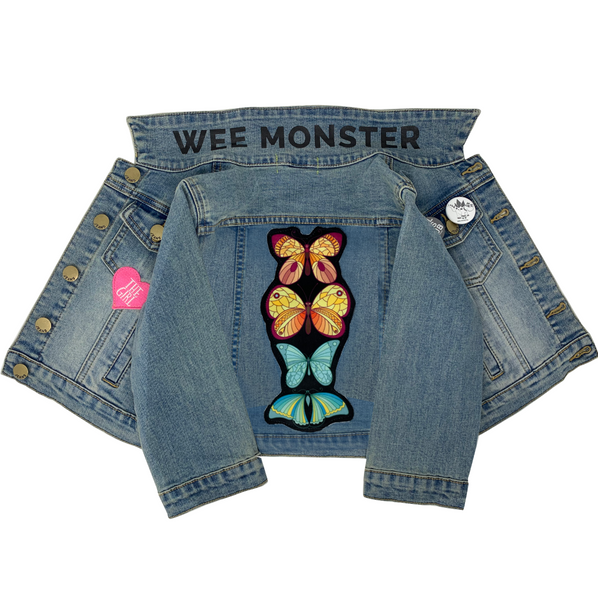 Butterfly Denim Jacket - Unisex for Boys and Girls
