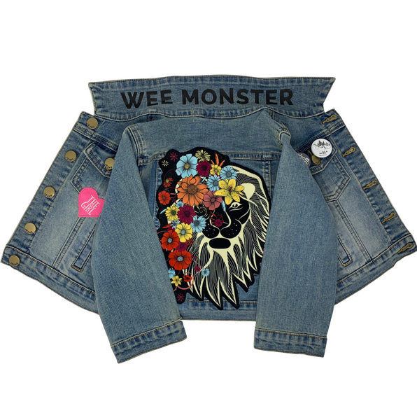 Lion Denim Jacket - Unisex for Boys and Girls