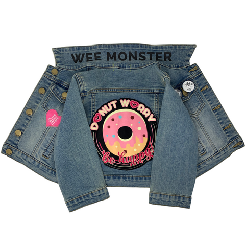 Donut Worry Denim Jacket - Unisex for Boys and Girls