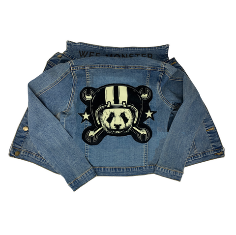 Panda Denim Jacket - Unisex for Boys and Girls