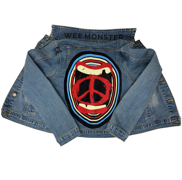 Screaming For Peace Denim Jacket - Unisex for Boys and Girls