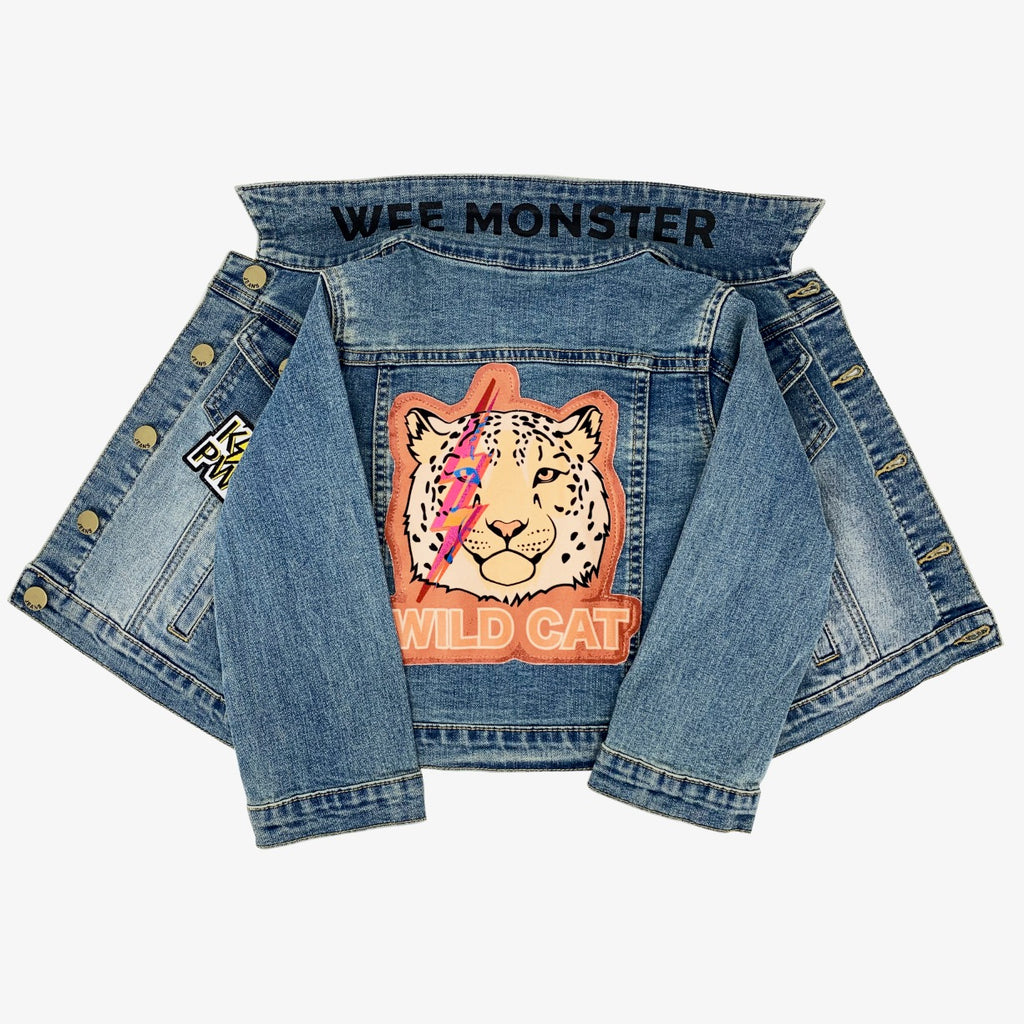 Wild Cat Denim Jacket - Unisex for Boys and Girls
