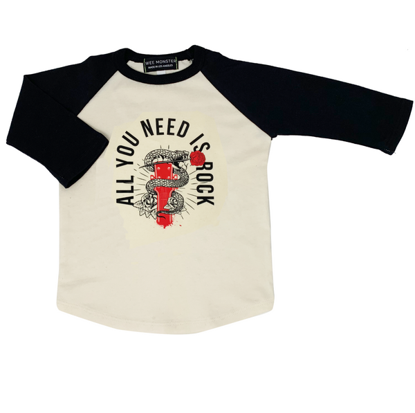 All You Need Is Rock Raglan - Unisex for Boys and Girls