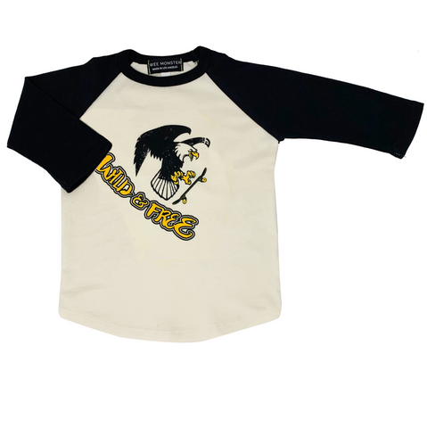 Wild & Free Raglan - Unisex for Boys and Girls