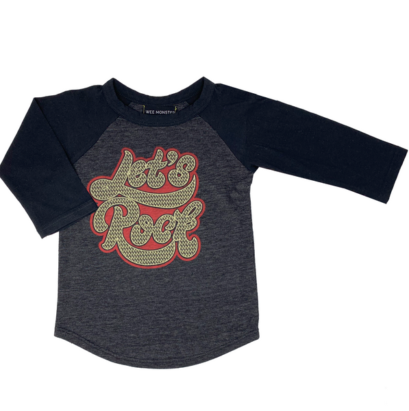 Let's Rock Raglan - Unisex for Boys and Girls