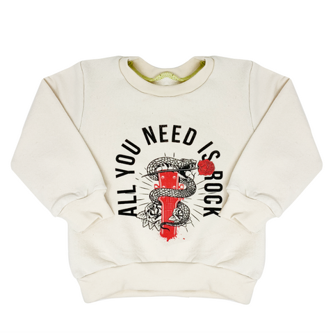 All You Need Is Rock Sweatshirt - Unisex for Boys and Girls
