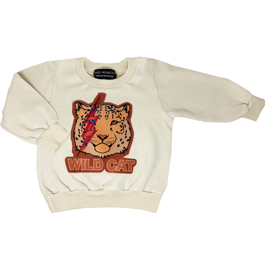 Wild Cat Sweatshirt - Unisex for Boys and Girls