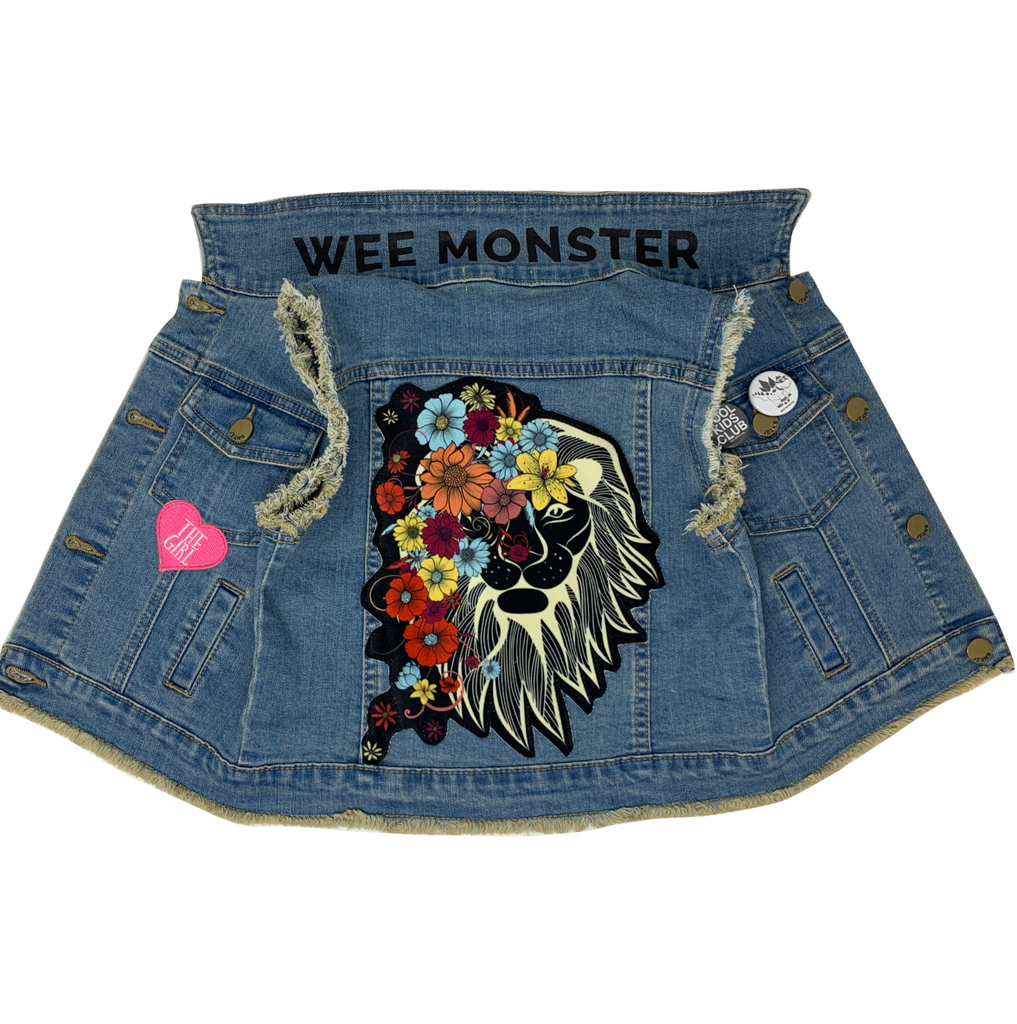 Lion Denim Vest - Unisex for Boys and Girls