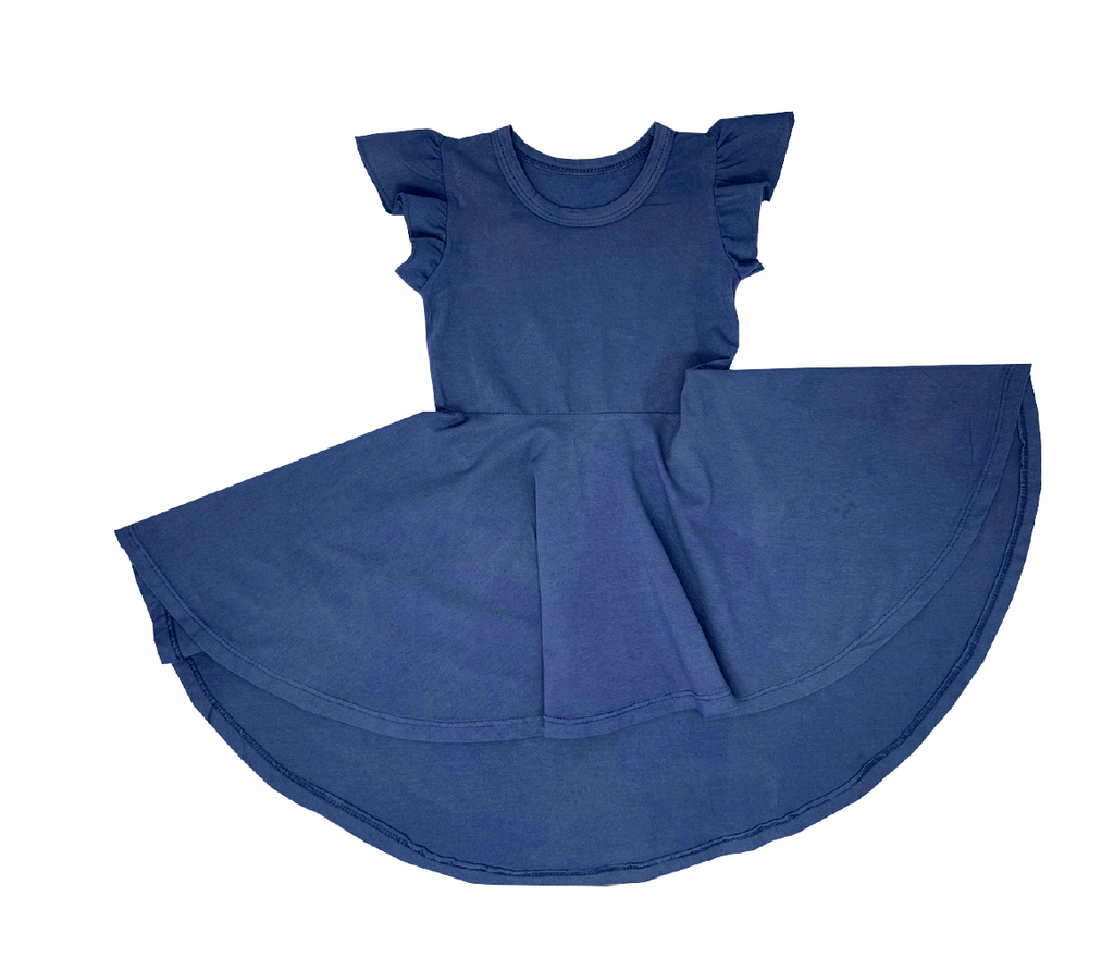 Storm Blue Basics Circle Dress