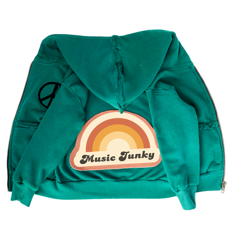 Music Junky Zip Hoodie - Unisex for Boys and Girls