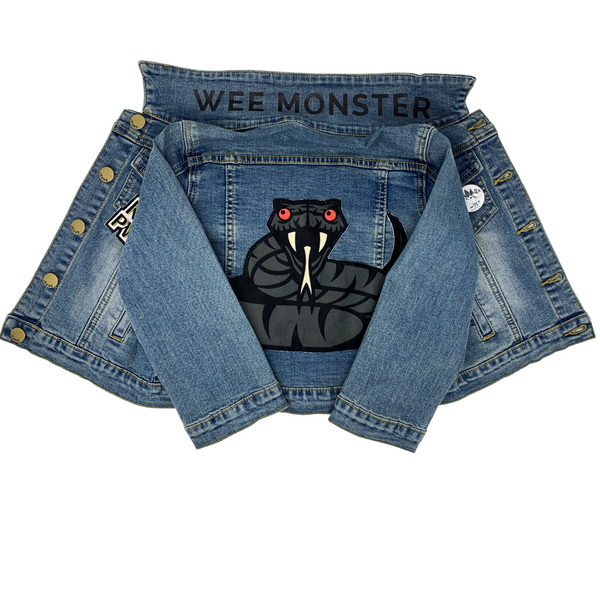 denim jacket skate punk retro denim vest for boys girls clothing