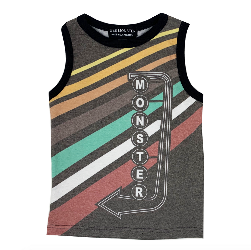Monster Neon Muscle Tank - Unisex for Boys and Girls
