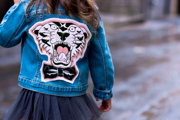Tiger Patch Denim Jacket - Unisex for Boys and Girls