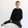 100% cotton heart lollipop patch sweatshirt crewneck unisex boys girls