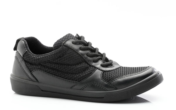Snipe - Everyday School Sport Shoe - Leather + Mesh Textile
