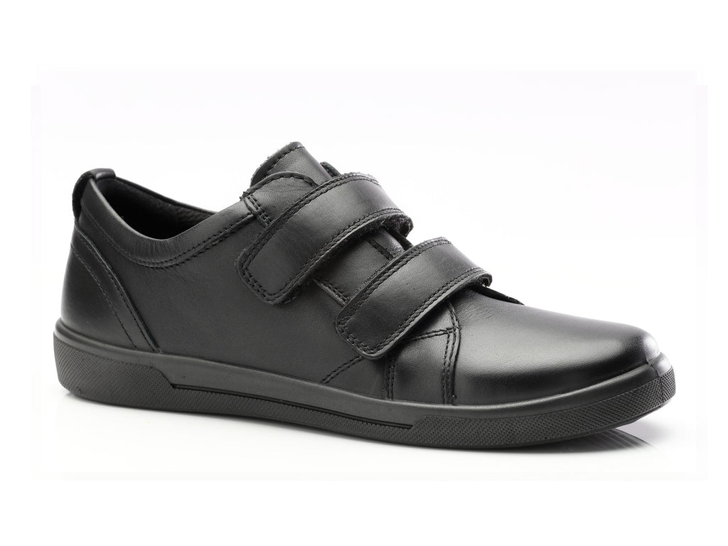 Jay - Boys Double Velcro Shoe - Nappa Leather