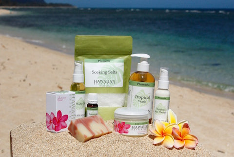 natural bath body products hawaii plumeria collection