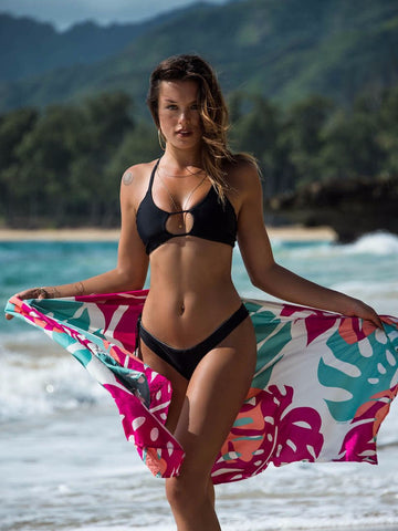 Naia surf bikinis reversible crossback top black