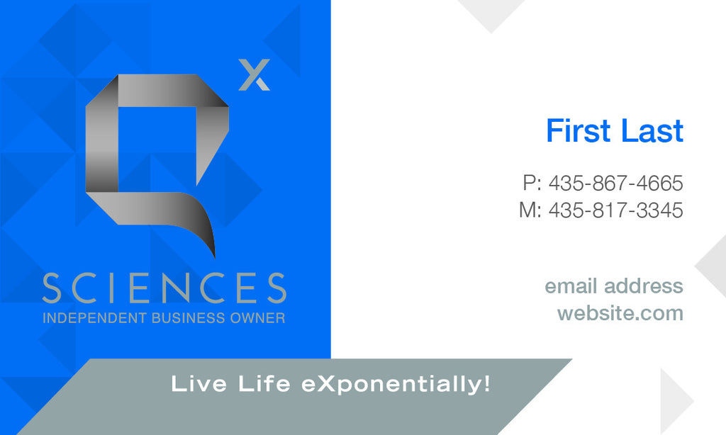2-Sided Business Cards - Horizantal Design – Q Sciences Store Elevate