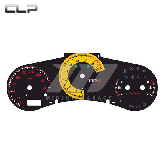 Toyota MR2 Spyder ZZW30 99-07 - Custom Gauge Cluster Faceplate