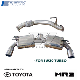 "Berk Technology - Toyota MR2 Turbo SW20 (93-99) 3S-GTE - 3"" Dual Exhaust"