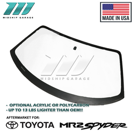 Midship Garage - Toyota MR2 Spyder/MR-S ZZW30 (99-07) - Lightweight Front Windshield w/ Optional Treatment (Acrylic or Polycarbonate)