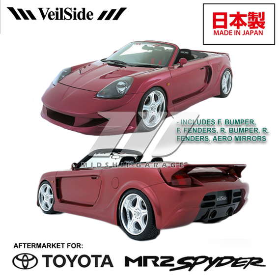 Veilside - Toyota MR2 Spyder/MR-S ZZW30 (99-07) - Fortune Widebody Kit