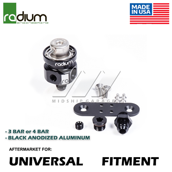 Radium Engineering - Universal Fuel Pressure Regulator (3 or 4 Bar)